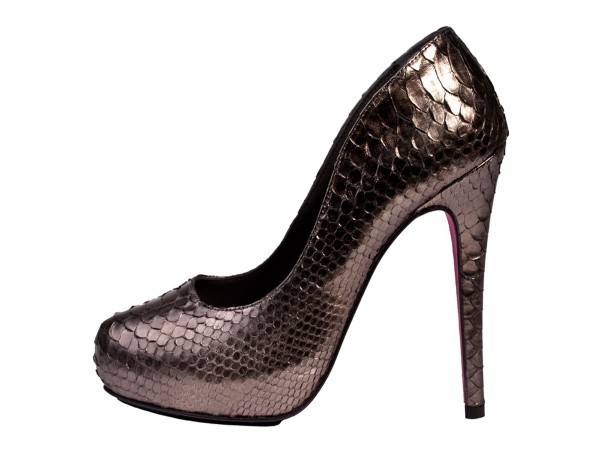 Penelope - Pumps made of python leather anthrazit metallic