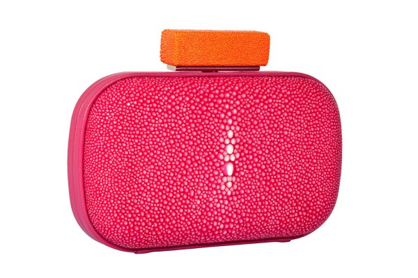Candy Mini Clutch ray leather fuchsia/tangerine @a-cuckoo-moment