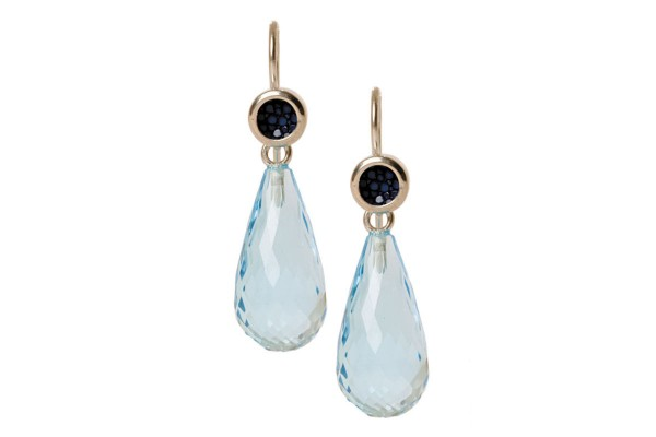 Annie earrings with blue topaz @a-cuckoo-moment