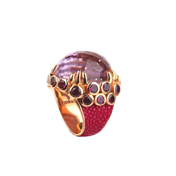 Margarita - Ring mit Amethyst und Rhodoliten