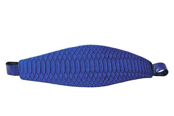 Anastasia - Python Leder Gürtel- royal blue matt