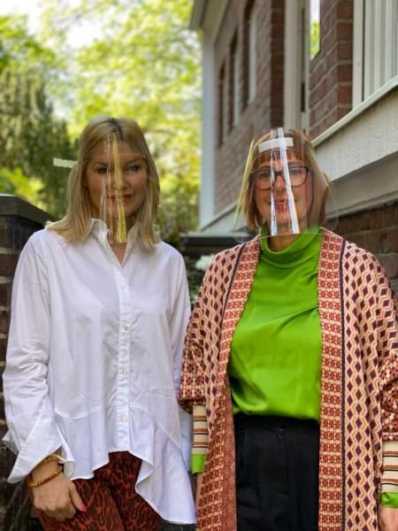 Petra Dieners @Lieblingsstil und Lia Fallschessel mit dem Schutzvisier