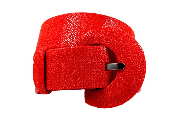 Stingray leather belt 50 mm wide many colors