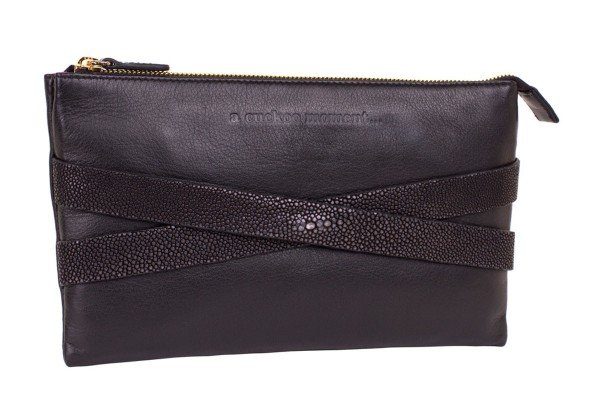 Lotti Clutch black made with stingray leather @a-cuckoo-moment