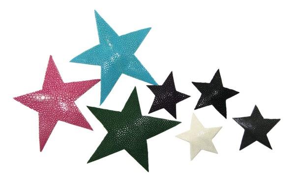Sterne aus Rochenleder