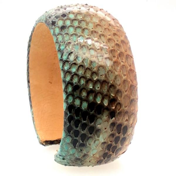 SAMBA Armreif aus handbemalter Pythonschlange oasis flexibel @a-cuckoo-moment