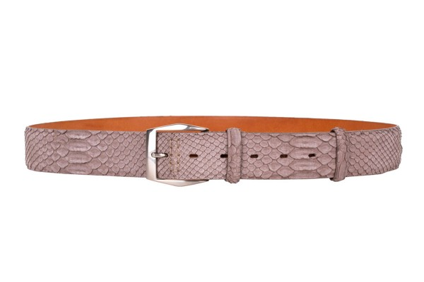 Men's belt Mars in python leather mushroom @a-cuckoo-moment