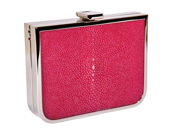 Scarlet Mini Clutch with ray leather fuchsia @a-cuckoo-moment
