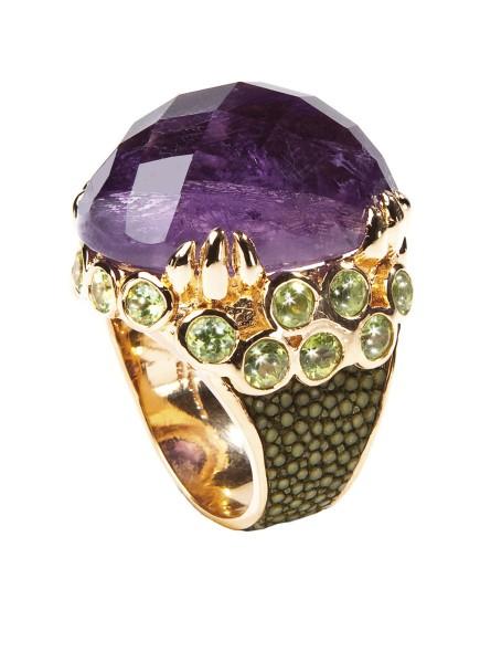 Margarita- Ring mit Amethyst und Peridots