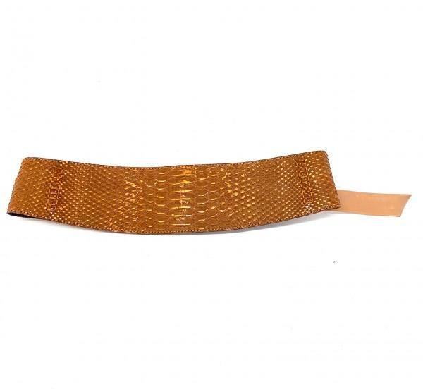 Annabell exklusiver Wickelgürtel tan-copper metalic