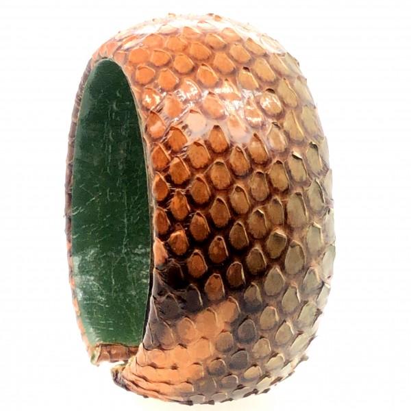 SAMBA Armreif aus handbemalter Pythonschlange pistacchio garden flexibel @a-cuckoo-moment