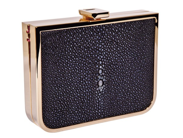 Mini Clutch Scarlett with ray leather black @a-cuckoo-moment