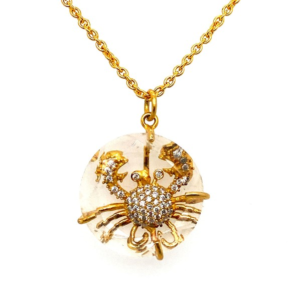 Crab necklace a-cuckoo-moment