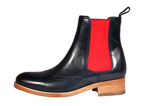 Vintage Boots blue-red
