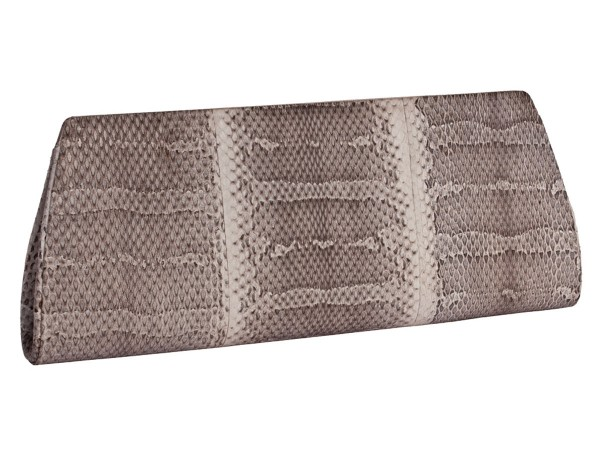 Mia Clutch made of snake