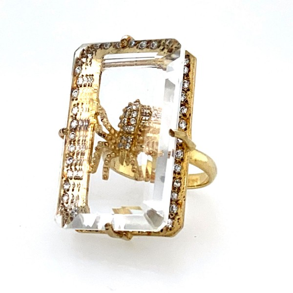 Sea spider Ring yellow gold plated a-cuckoo-moment