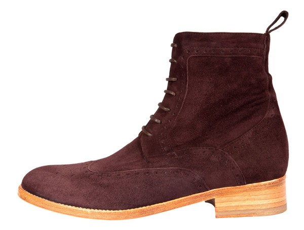 Dandy Boots suede leather brown