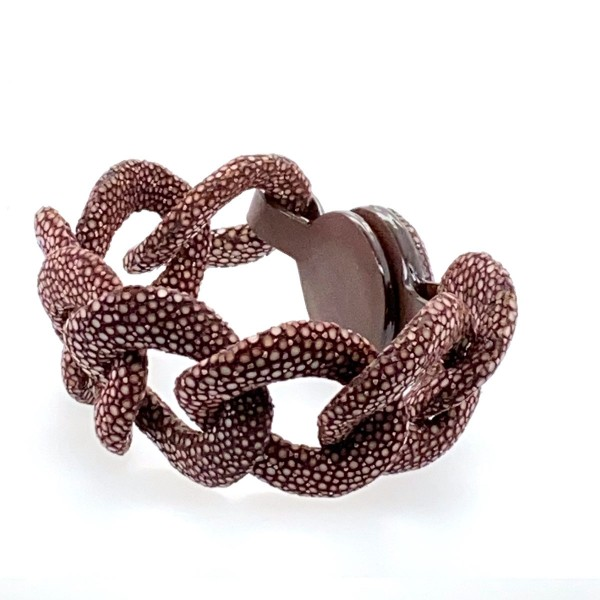 Lucia link bracelet brown stingray leather a-cuckoo-moment