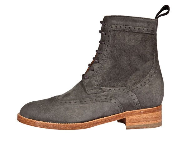Dandy Boots suede leather grey