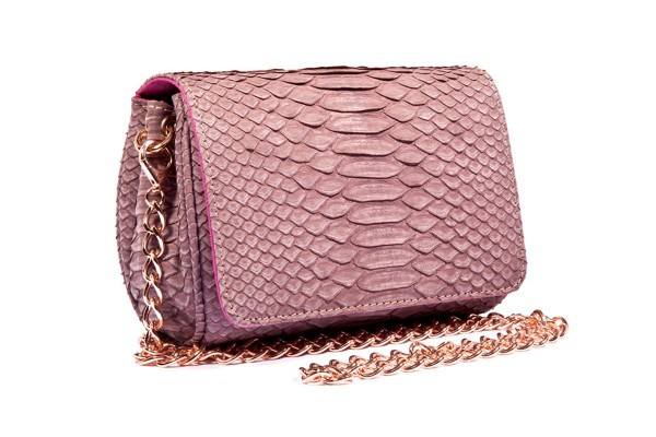 Bonnie Cassis Matt small Cross Body Bag made of python leather a-cuckoo-moment