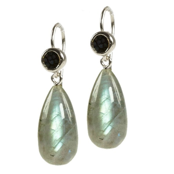 Annie Earrings with Labradorite @a-cuckoo-moment