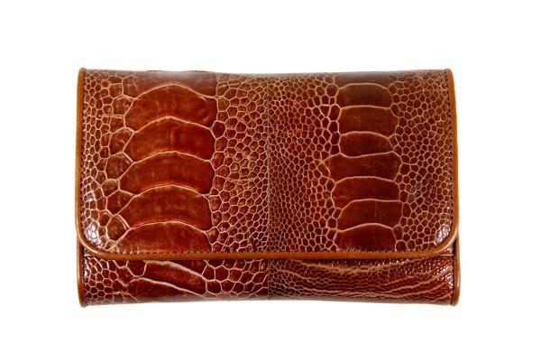 Portemonnaie aus Straußenbeinleder