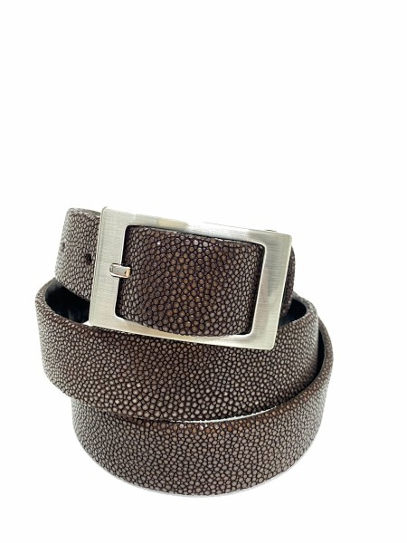 Men belt´s Mars made in stingray leather brown @a-cuckoo-moment