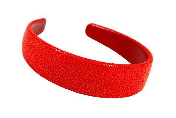 ALICE- Headbands made of stingray leather 3 cm wide in many colors