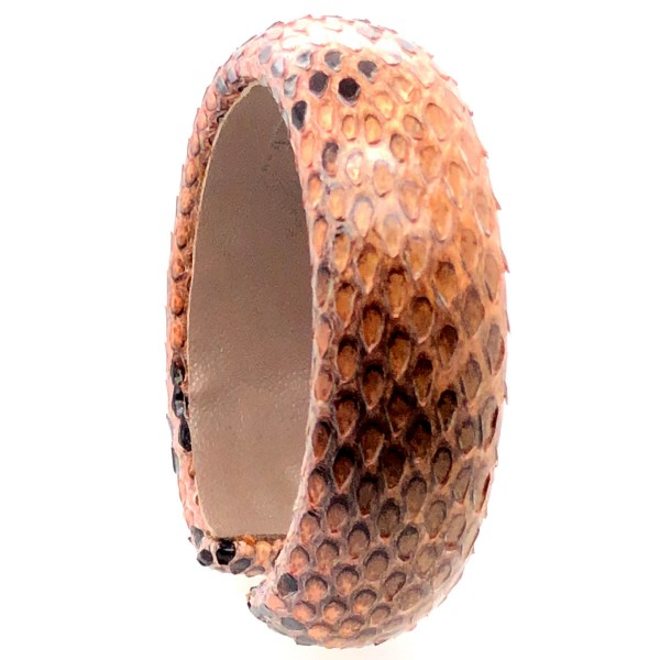 SAMBA Armreif aus handbemalter Pythonschlange Blush flexibel @a-cuckoo-moment